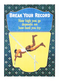 Break Your Record Giclee Print by Frank Mather Beatty