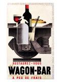 Wagon-bar Reproduction procédé giclée par Adolphe Mouron Cassandre
