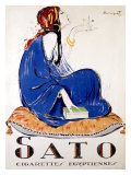 Sato Cigarettes Giclee Print by Charles Loupot