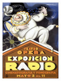Expo Radio Giclee Print by Achille Luciano Mauzan