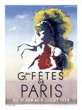 Grandes Fetes de Paris Giclee Print by Adolphe Mouron Cassandre