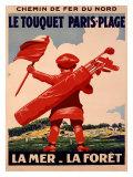 Le Touquet, Paris Giclée-tryk af  Courchinoux