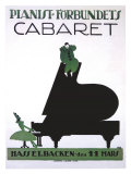 Pianist Forbundets Cabaret Giclee Print by  Kage