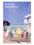 Bodensee, Fahrt Giclée-Druck von Dietrich Bodman