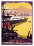 Marseille, Metropole Industrielle Giclee Print by Roger Broders