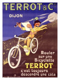 Terrot and Cie Motorcycle Giclee Print by  Dreville