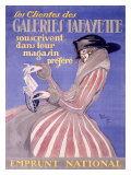 Galeries Lafayette Giclee Print by Jean-Gabriel Domergue
