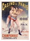 Casino de Paris, Championnat de lutte Impression giclée par  PAL (Jean de Paleologue)