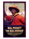 Bill Pickett the Bull-Dogger Impressão giclée
