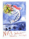 Chagall Nice, soleil, fleurs Reproduction procédé giclée par Marc Chagall