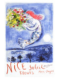 Nice, Soleil Fleurs Giclee Print by Marc Chagall