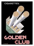 Golden Club Reproduction procédé giclée par Adolphe Mouron Cassandre
