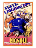 Bignoli Super Liquidacion Giclee Print by Achille Luciano Mauzan