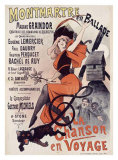 Montmartre en Ballade, La Chanson Giclee Print by Alfred Choubrac