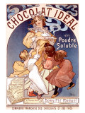 Chocolat Ideal Giclee Print by Alphonse Mucha