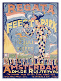 Regata Feestpark Giclee Print by Klijn 