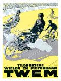 Verschuuren T.W.E.M. Cycling and Motor Race Giclee Print by Charles Verschuuren
