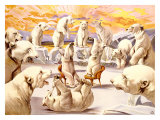 Polar Bears, Circus Giclee Print by Adolphe Friedl&#228;nder