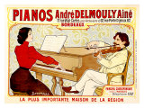 Pianos Delmouly Giclee Print by J. Georges