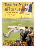 Prix Aviation Angers Giclee Print by  Lessieux & Carrey