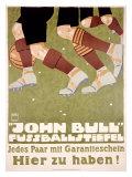 John Bull Fussballstiefel Giclee Print