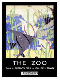 The Zoo London Underground Giclee Print by Robert Brown
