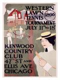 Western Lawn Tennis Giclee Print