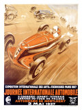 Journée internationale automobile Reproduction procédé giclée par Geo Ham