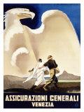 Assicurazioni Generali Venezia, 1936 Giclée-Druck