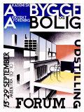Bygge og Bolig Giclee Print by Ib Andersen