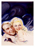 Fred Astaire and Ginger Rogers Giclee Print