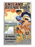 England Uber Ostende Dover Giclee Print by  Sentrein
