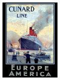 Cunard Line, Europe to America Giclee Print