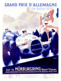Grand Prix d'Allemagne Giclee Print by Alfred Hierl