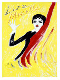 Liza Minelli Giclee Print by Junot 