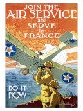Kommt zum Air Service Giclée-Druck von Jozef Paul Verrees
