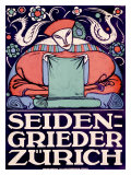 Seiden-Grieder, Zurich Giclee Print by Otto Baumberger