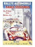Rallye Automobile Sable, Solesmes Giclee Print
