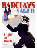 Barclay's Lager Giclee Print by Tom Purvis