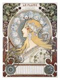 Zodiac le Plume Giclee Print by Alphonse Mucha