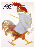 PKZ, Rooster Giclee Print by Carigiet Alois