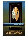 Orient Express Wydruk giclee autor Pierre Fix-Masseau