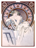 Femme aux Coquelicots Giclee Print by Alphonse Mucha