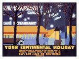 Your Continental Holiday Giclee Print by Robert Brown