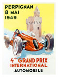 4th Grand Prix, Perpignan, 1949 Giclee Print by Raspaut 