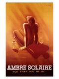 Ambre Solaire: Sonnenschutz Giclée-Druck von Charles Loupot