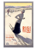 Rigi Ski, 1907 Giclee Print