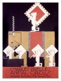 Charles Prelles Animal Circus Lámina giclée
