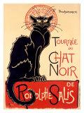Tournée du Chat Noir Reproduction procédé giclée par Théophile Alexandre Steinlen