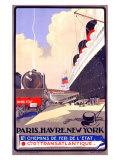 Paris-Havre-New York Giclee Print by Albert Sebille